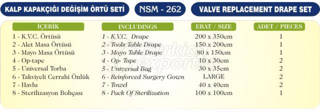 Conjunto de drapeado de substituição de válvulas