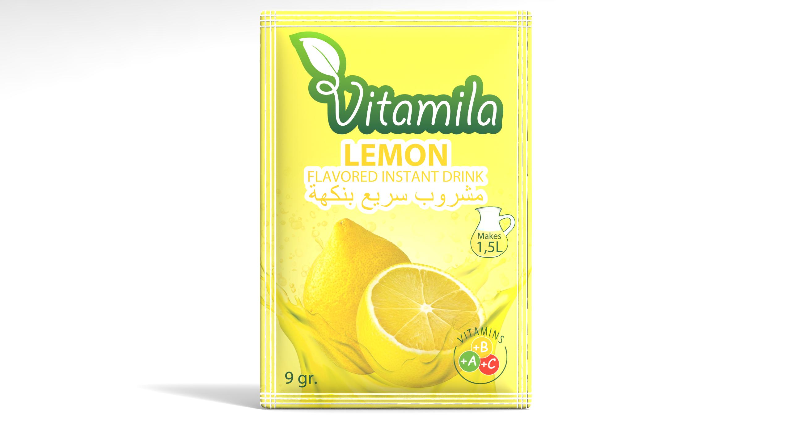 Vitamila - Lemon Flavoured Instant Powder Drinks - 9 gr.