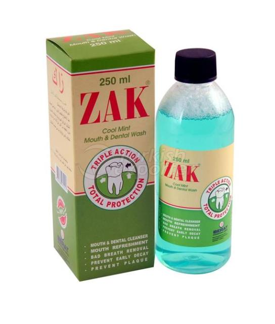 Zak Cool Mint Mouth and Dental Wash