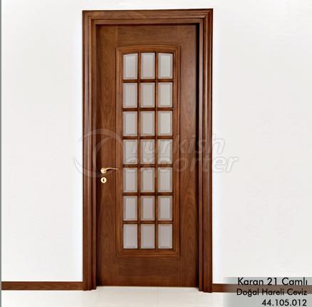 Ahşap Kapı Karan 21 Camlı