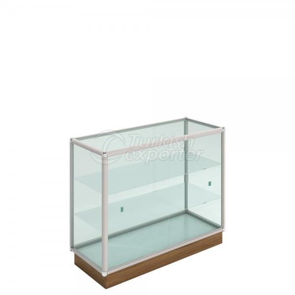 Showcase de vidro de alumínio KLR-601