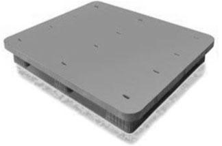 Plastic Pallet 1300*1100*150/Monobloc Solid