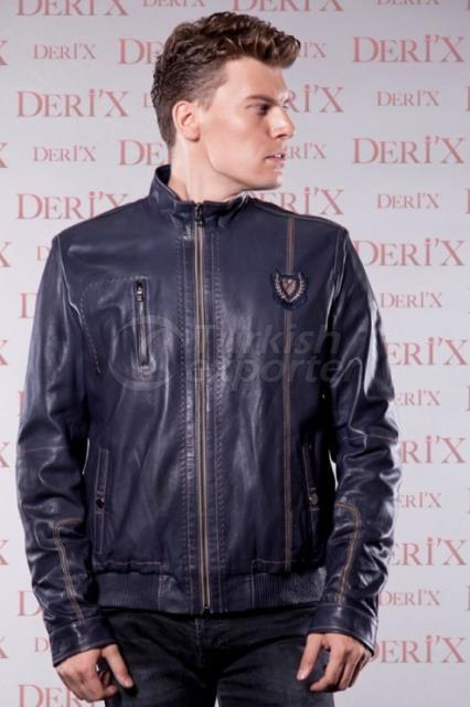 Leather Jackets 26-17E Dark Blue