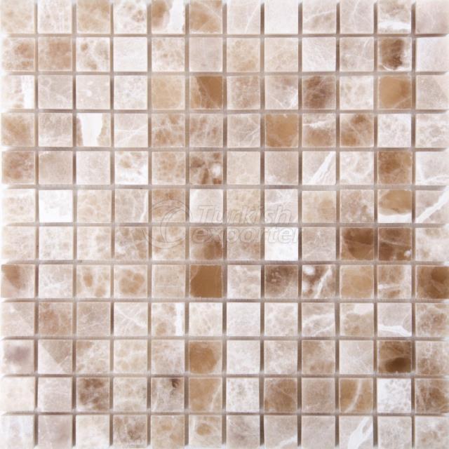 2,3x2,3 Cream Caramel Onyx Mosaic