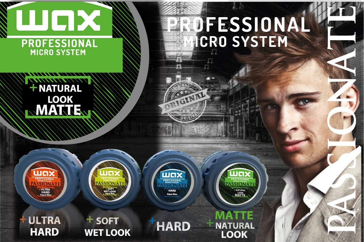 Passionate hair WAX Professional System MATTE NATURAL LOOK