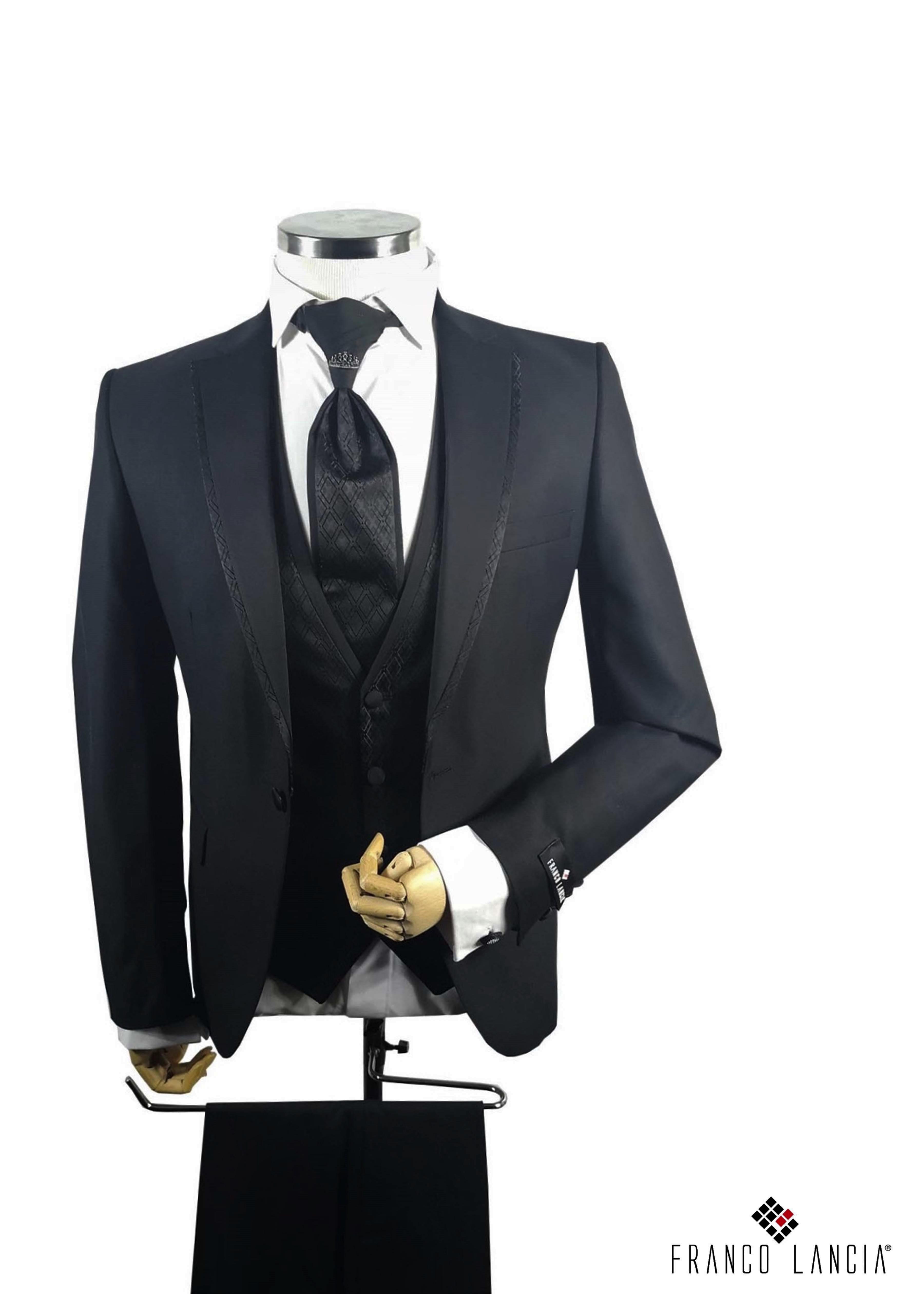 Notch Lapel Black Tuxedo