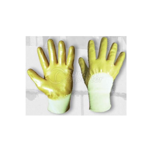 Ebax Yellow Nitrile Glove