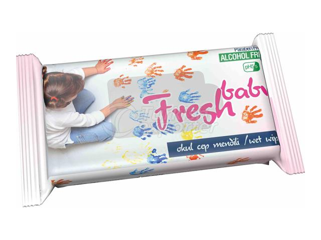 FRESH BABY CHILD POCKET WIPES PINK