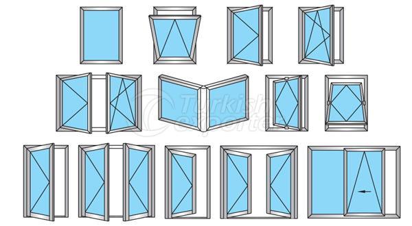 Janelas de portas de alumínio 64T
