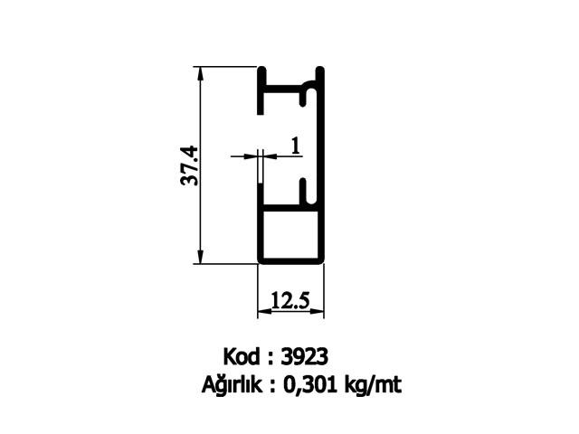 Shower Cabin Profiles 3923
