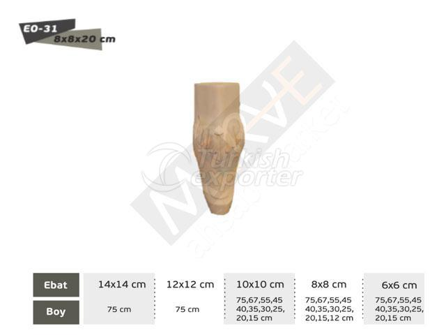 Piernas talladas - EO-31