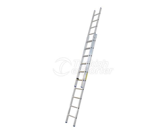 2 Section Aluminum Industrial Ladder