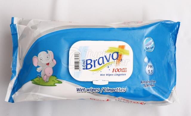 Bravo 100 Pcs Wet Wipes
