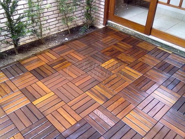wood tile deck