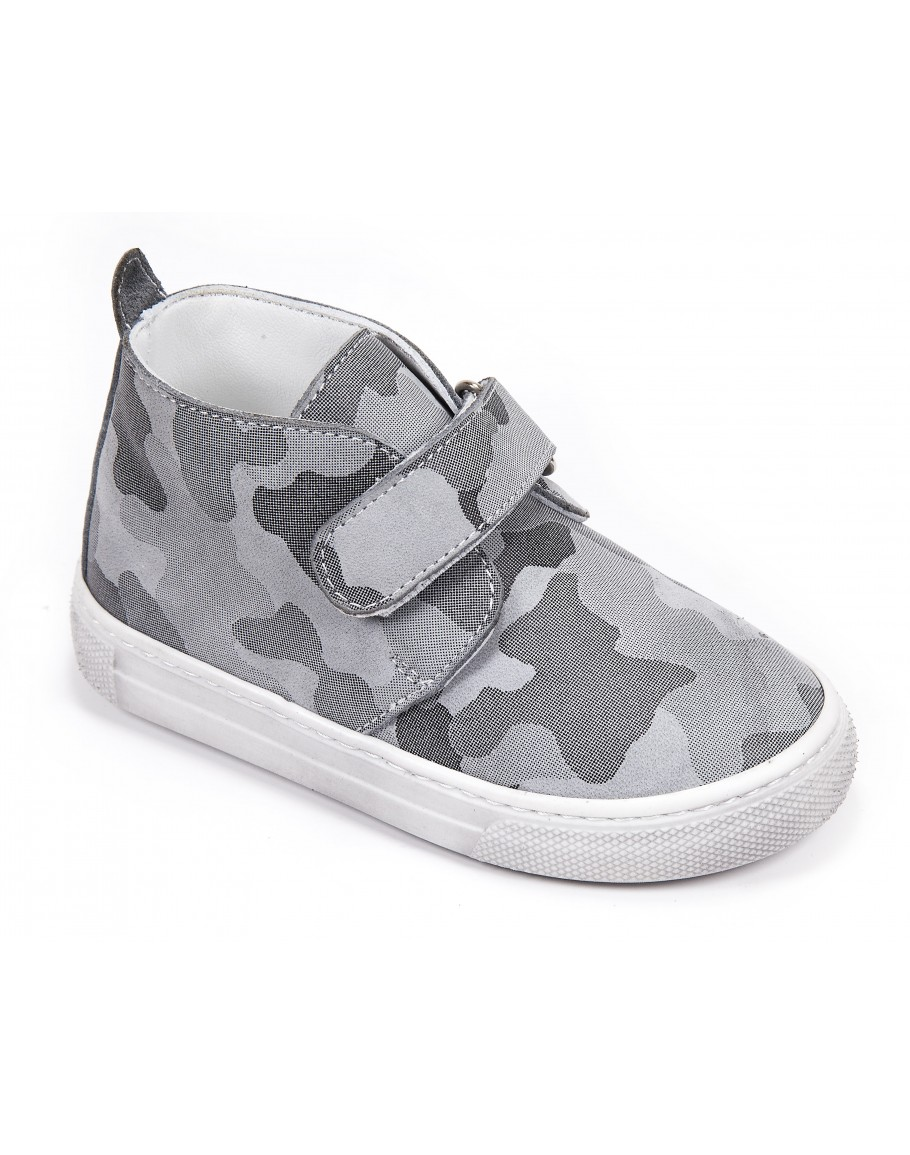 Casual Leather Shoes - Gray