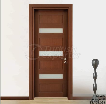 Porte en bois Seven Glazed
