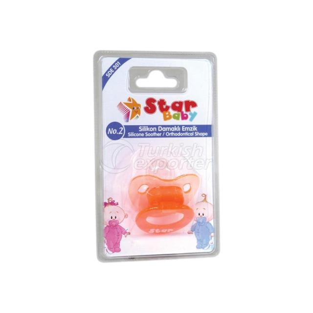 Transparent Silicone Soother -Ort. Shape- No.2