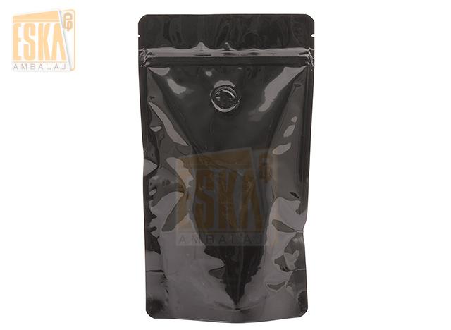 Black Aluminium Doypack with Valve