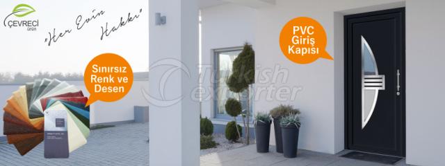 Paneles de puerta planos de PVC