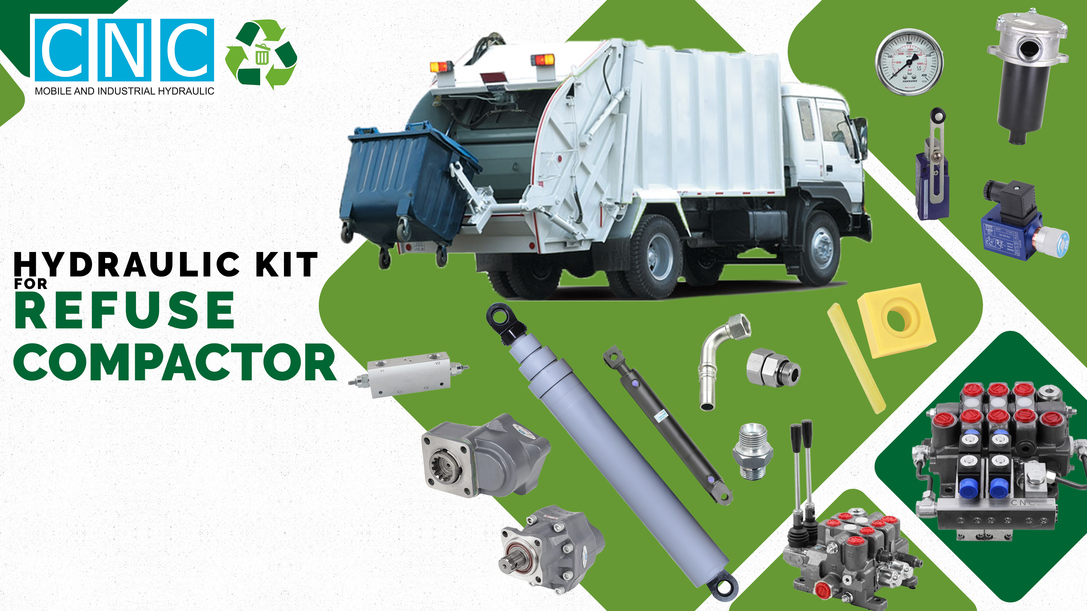 Hydraulic Kit For Refuse Compactor