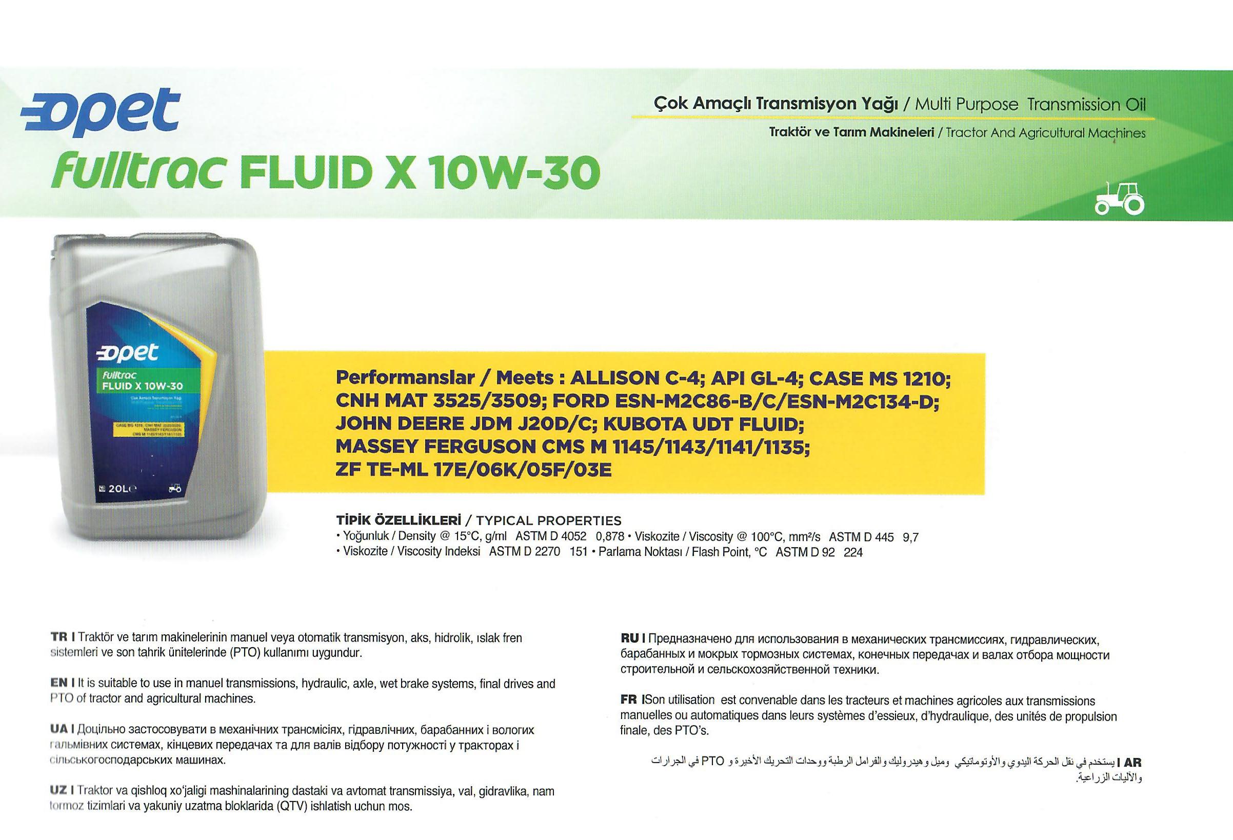 Fulltrac Fluid X 10W-30