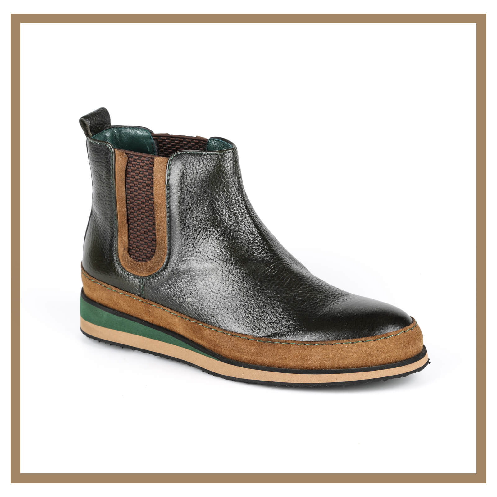 Leather Man Boots 007