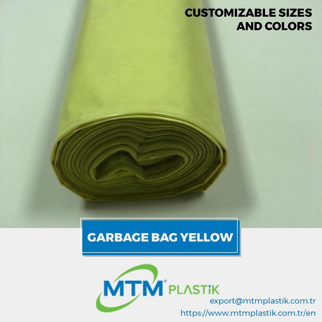 GARBAGE/ TRASH BAGS YELLOW