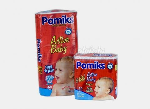 Baby Diaper POMIKS ACTIVE 4 MAXI