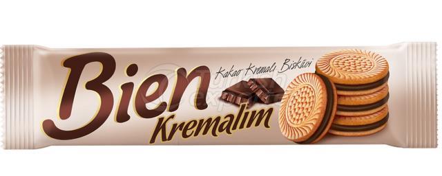 Bien Kremalim Sandwich Biscuit with Chocolate Cream