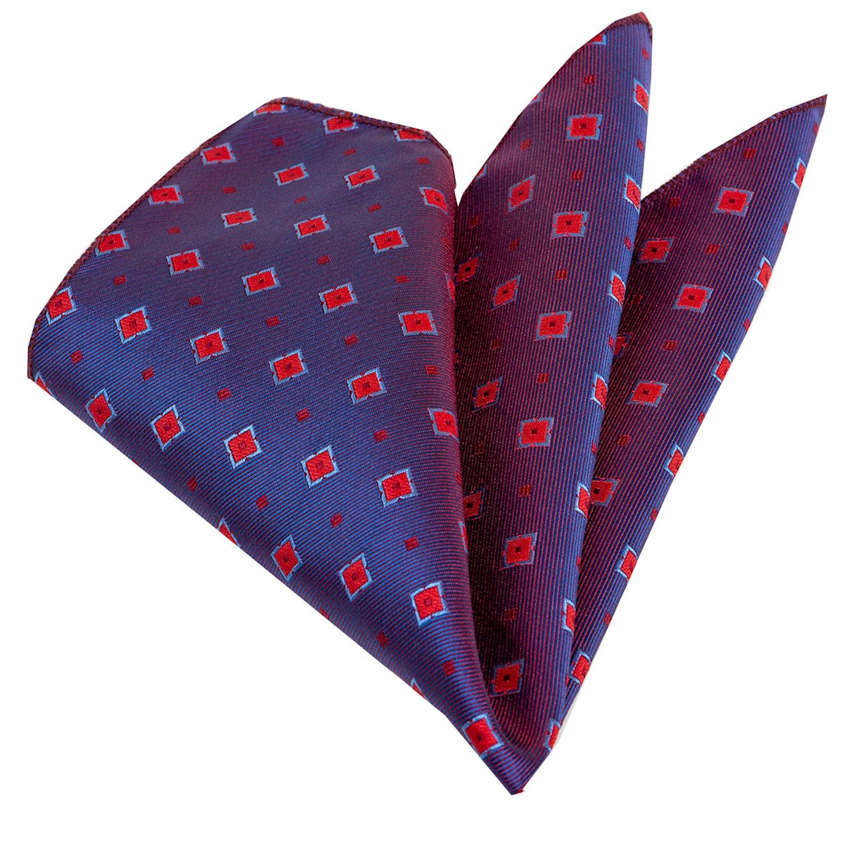Burgundy Square Silk Handkerchief