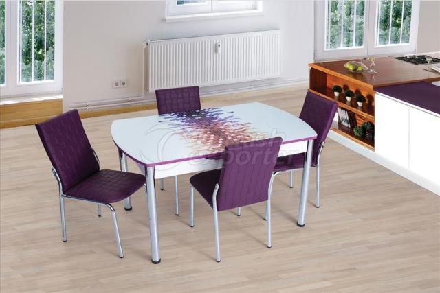Conjunto de mesa e cadeira