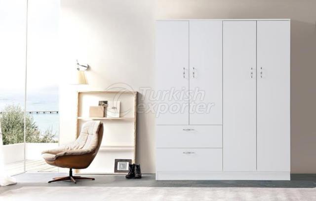 Armário de 4 portas com 2 portas