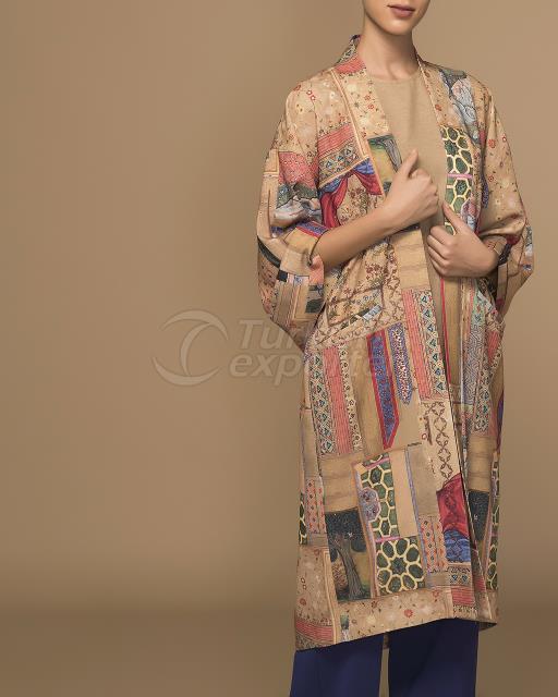 Kimono with Miniature Pattern