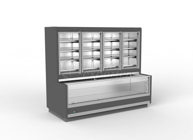 Vertical Glass Door Combi Freezer ORCA