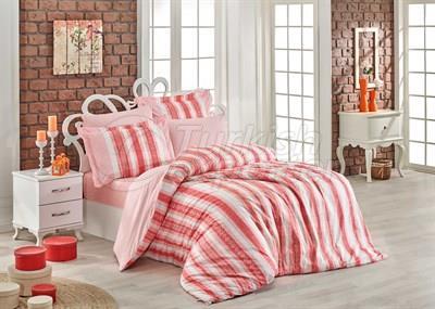 Debora Coral - Juego de ropa de cama individual Poplin (8698499130319)