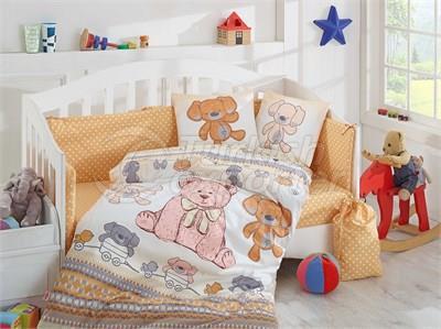 Tombik Yellow - Baby Bed Linen Set (8698499125100)