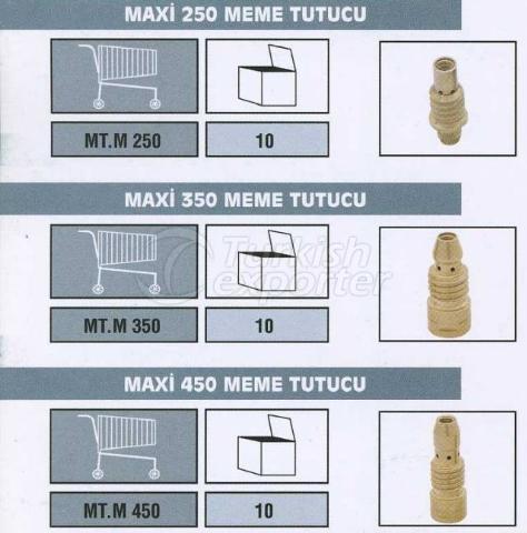 Mig Torch Yedek Parçaları Maxi 250 Meme Tutucu Maxi 350 Meme Tutucu Maxi 450 Meme Tutucu