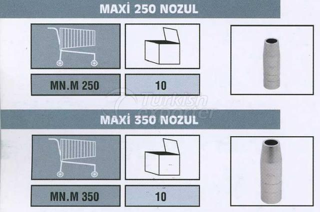 MIG Torch Spare Parts Maxi 250 Nozzle Maxi 350 Nozzle