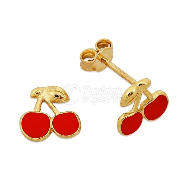 Gold Kids Earring