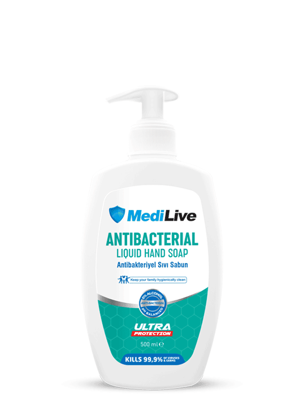 MEDILIVE ANTIBACTERIAL LIQUID HAND SOAP 500ML