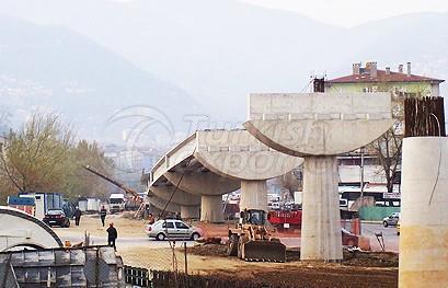 مشروع BURSARAY نظام السكك الحديدية الخفيفة ، Gokdere Viaduct
