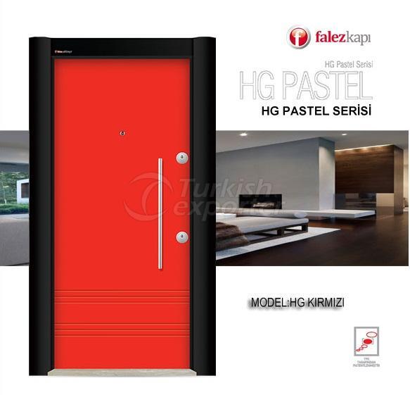 Steel Door Hg Pastel Kirmizi