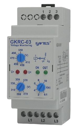 GKRC-03 Model Gerilim Koruma Röleleri