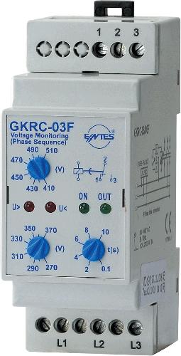 GKRC-03F Model Gerilim Koruma Röleleri