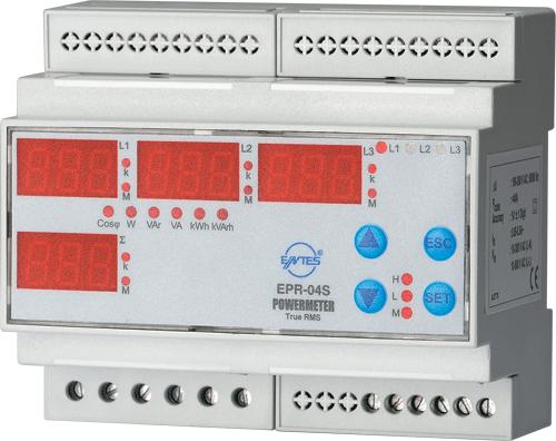 EPR-04S-DIN Model Power and Energy Meters