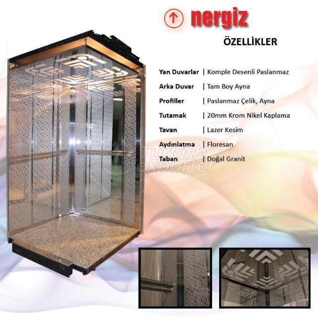 Nergis Model cabine d'ascenseur