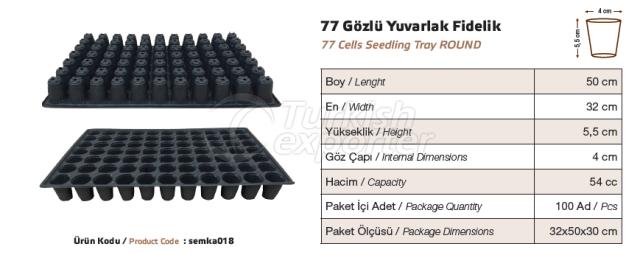 77 cellules ronde plateau de semis