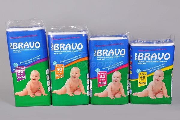 Baby Diaper BRAVO TWIN PACKS
