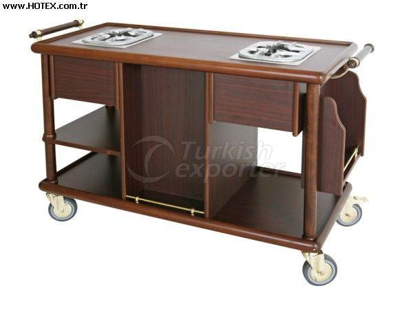 Flambe Trolley With Double Oven