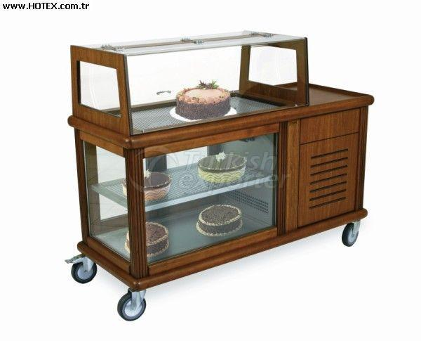 Cake Service Trolley With Rolltop Cover